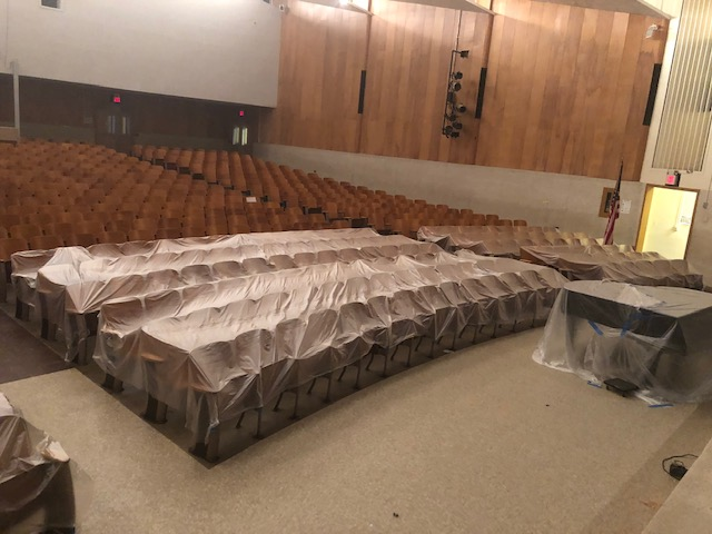 covered theatre chairs