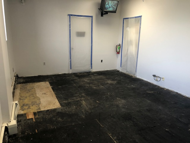 removed floor