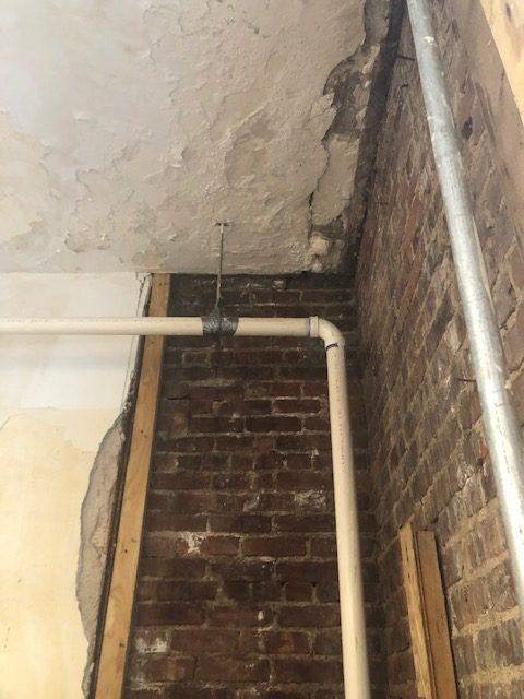 damaged plaster ceiling